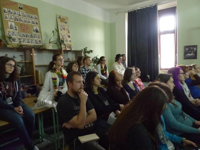 Většinu programu tvořily přednášky o seriálu. Foto: Kristýna Klazarová