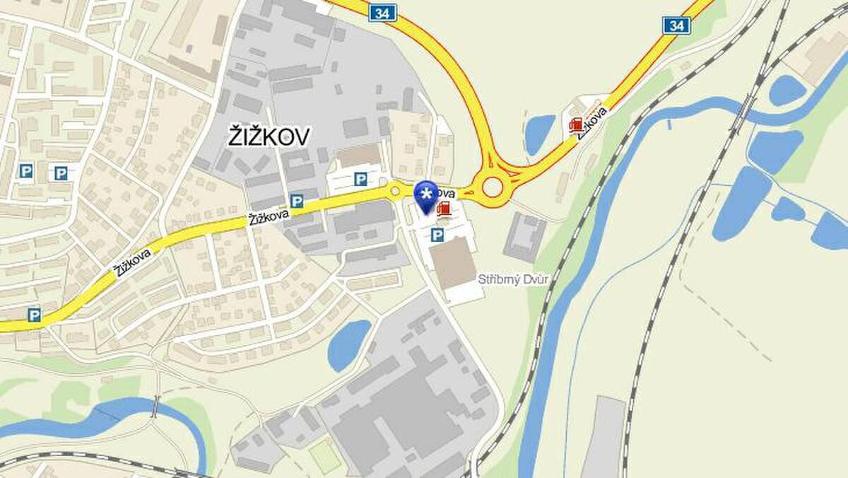 mapa Havl��k�v Brod