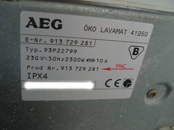 AEG, ELECTROLUX, ZANUSSI
