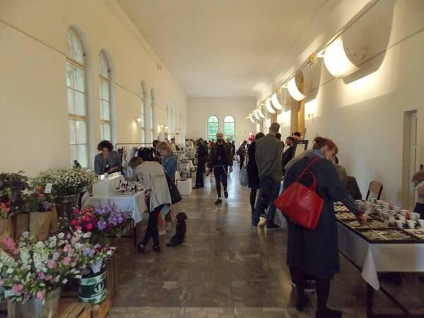 Miestnosť v Lužánkach, kde sa konala výstava/ Autor: Máša Kalčoková