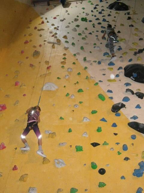 Na lezecké stěně